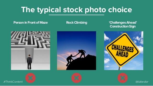 PersoninFrontofMaze The typical stock photo choice RockClimbing 'ChallengesAhead' ConstructionSign #ThinkContent @lizbedor