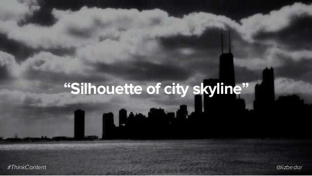 """Silhouette of city skyline"" #ThinkContent @lizbedor"