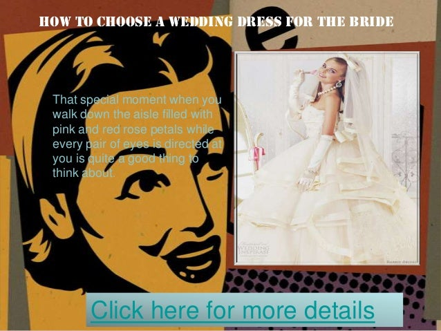 How to choose a wedding dress for the bride