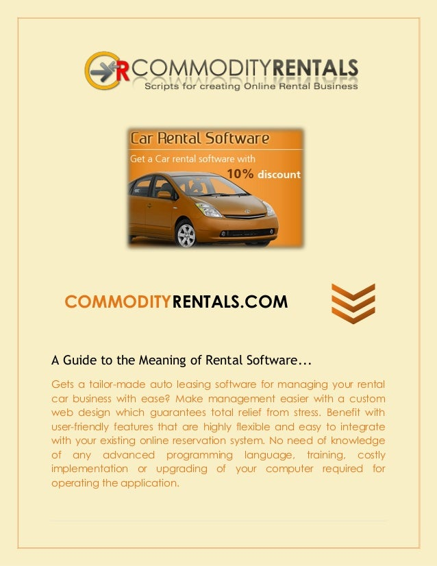 How To Choose Best Services For Trustworthy Car Rental Software Solut