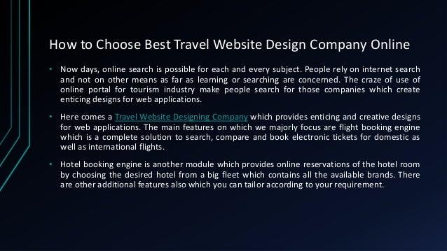 How to choose best travel website design company online Slide 2