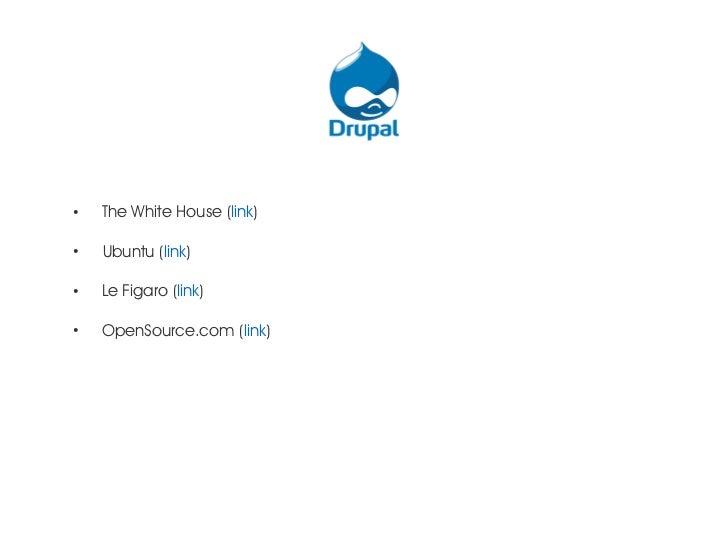 ●    The White House (link)●    Ubuntu (link)●    Le Figaro (link)●    OpenSource.com (link)