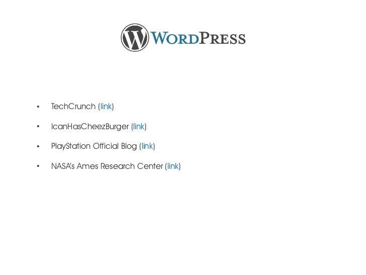 ●    TechCrunch (link)●    IcanHasCheezBurger (link)●    PlayStation Official Blog (link)●    NASA's Ames Research Center ...