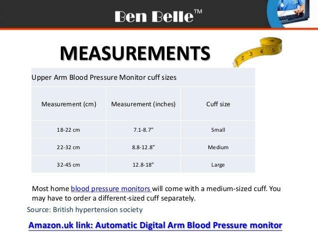 blood pressure monitor charts