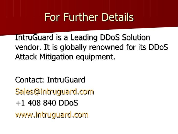 dos attack mitigation Treating dos attacks like a man-made disaster can help agencies determine the proper communication and technical response.