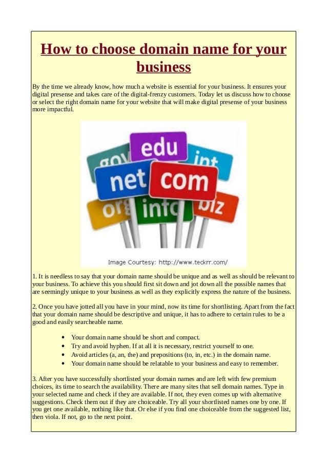 domain name business plan