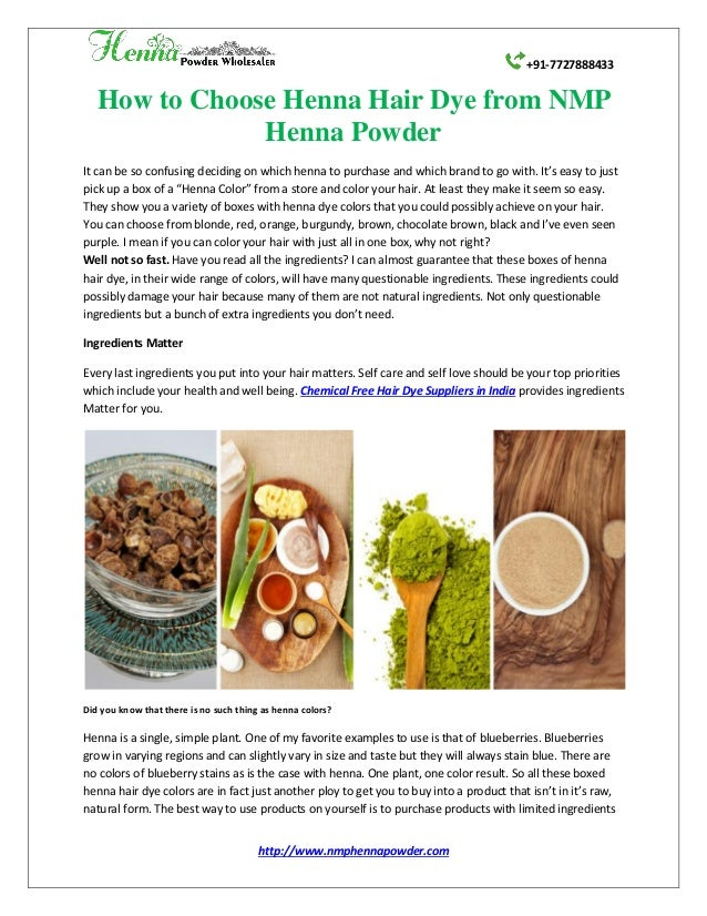 How To Choose Henna Hair Dye From Nmp Henna Powder