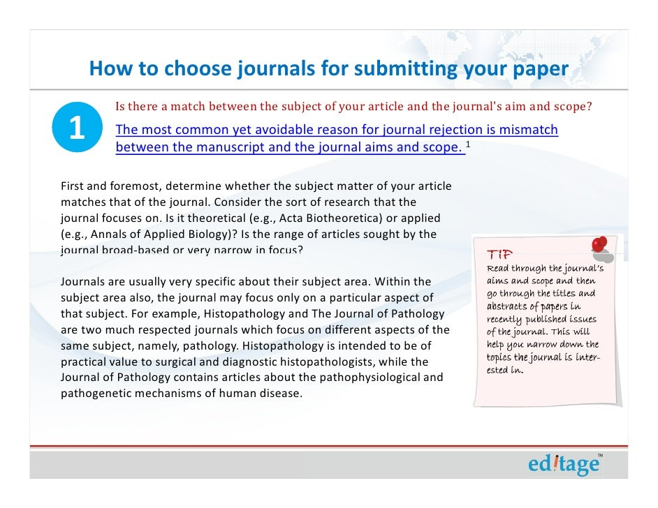 How to write papers for journals impact