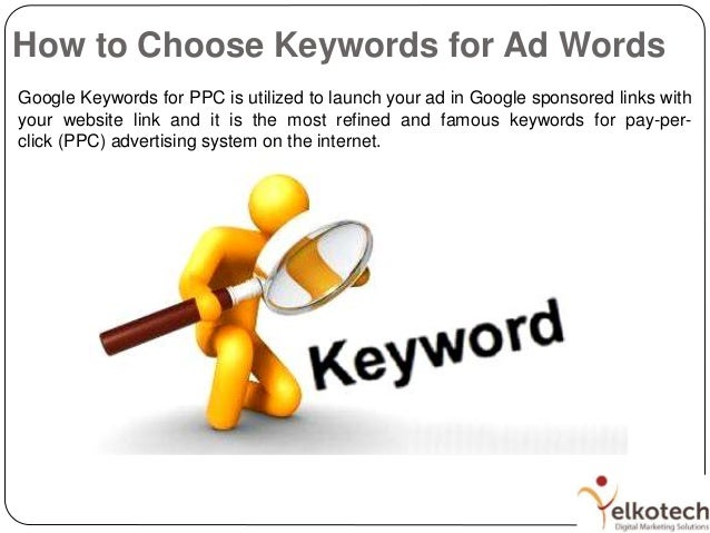 how to choose optimal keywords