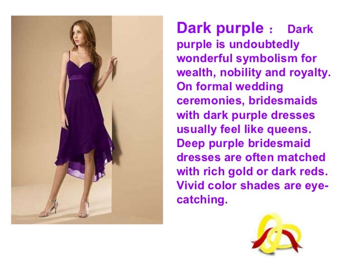 How to choose purple bridesmaid dresses for Wedding dress color meanings