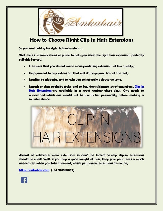How To Choose Right Clip In Hair Extensions