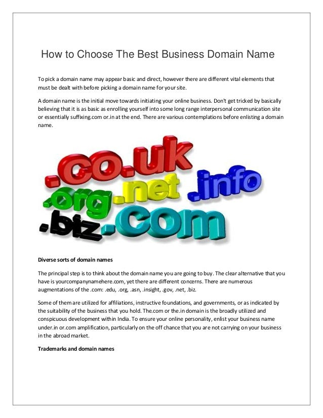 How to choose the best business domain name
