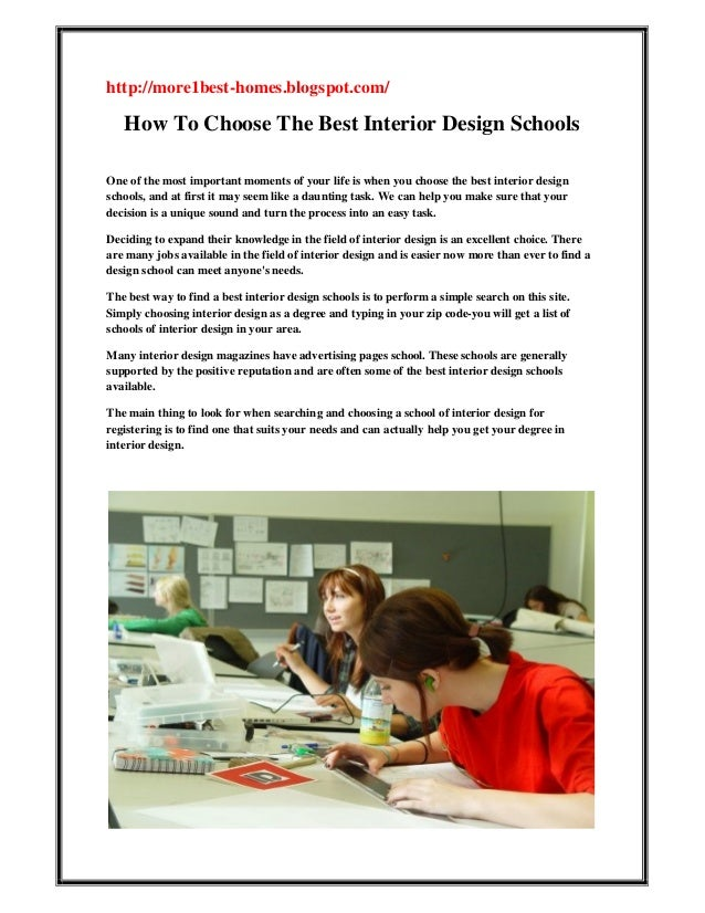 How To Choose The Best Interior Design Schools