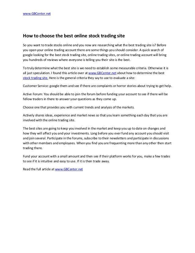 Best option trading websites