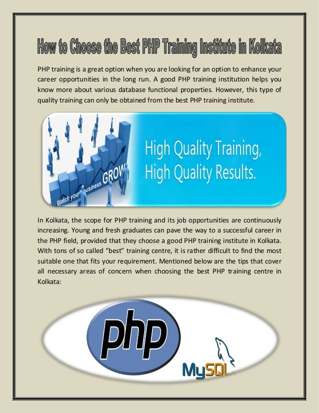 PHP training is a great option when you are looking for an option to enhance your career opportunities in the long run. A ...