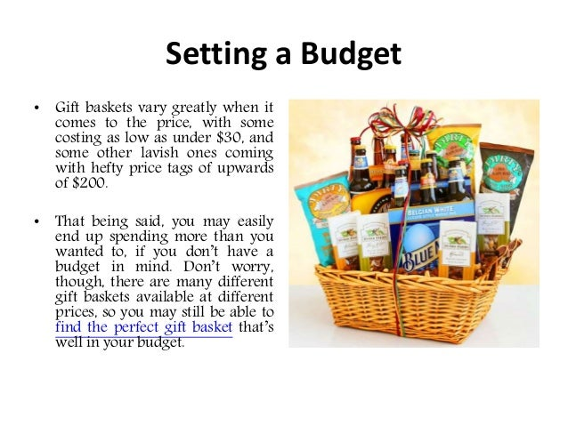 How to choose the perfect gift basket 3 setting a budget gift baskets negle Choice Image
