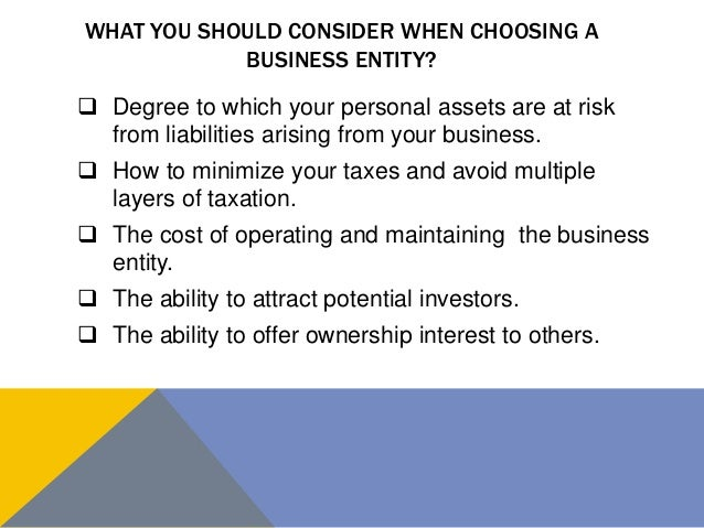 what business structure should i choose quiz
