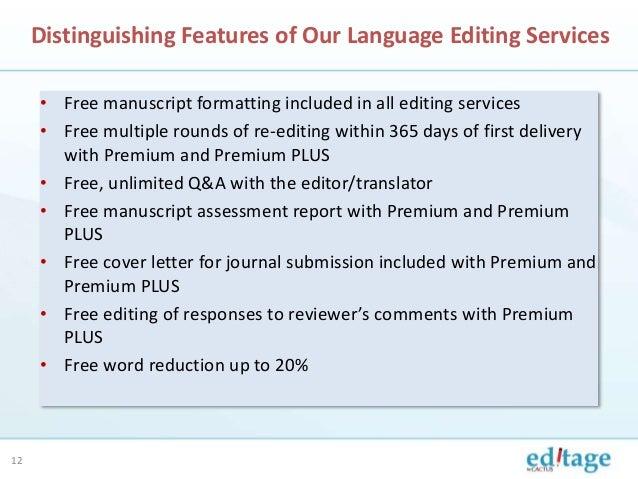 Academic editing services manuscript