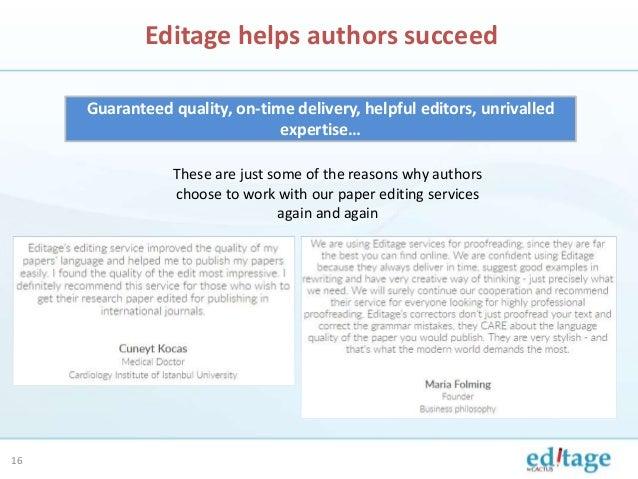 Academic editing service nature manuscript