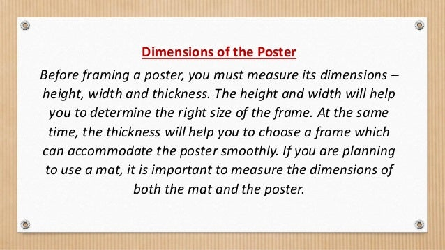 How to choose the right frame for your poster?