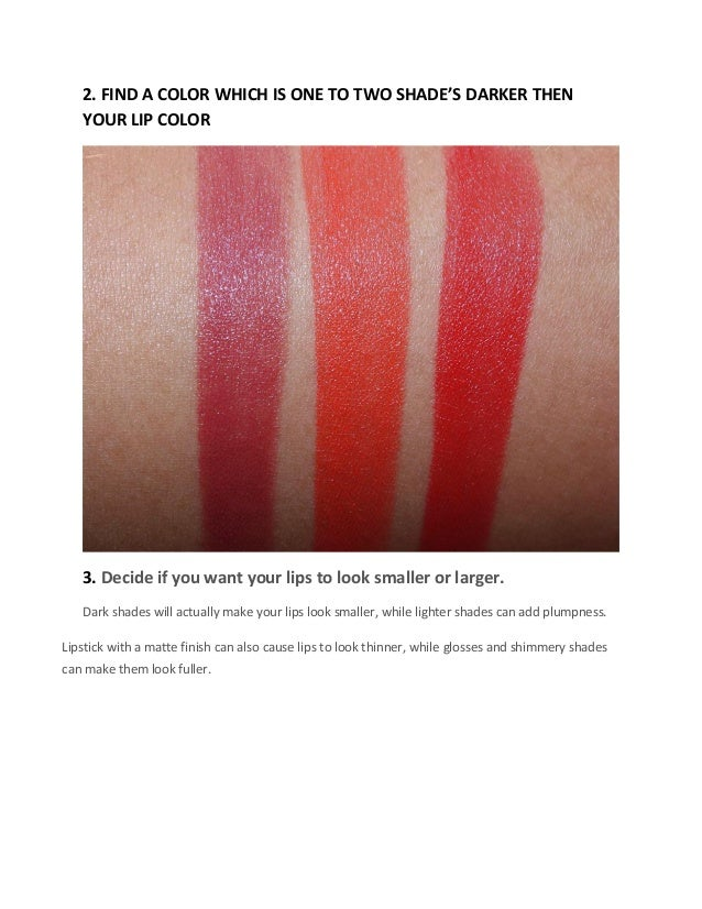 Right shade of lipstick according to your skin tone