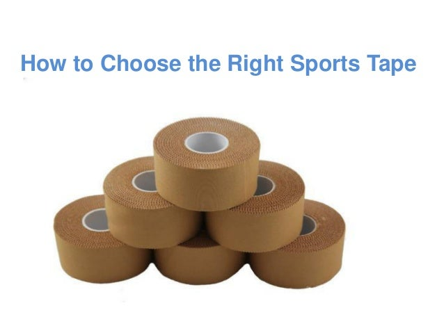 How to Choose the Right Sports Tape