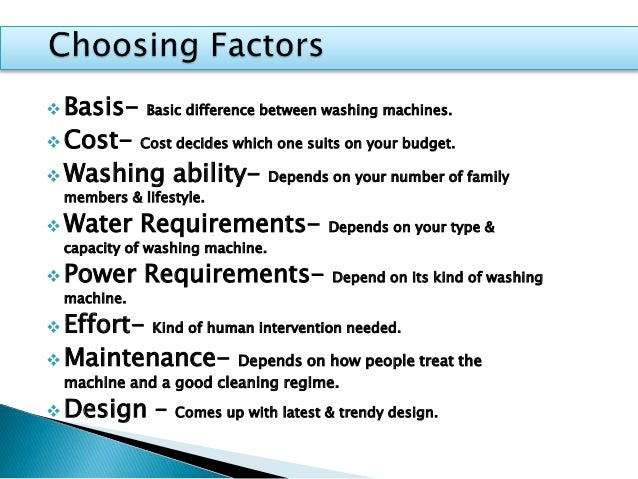 How To Choose Washing Machine