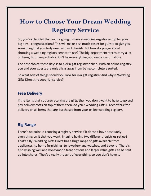 How To Choose Your Dream Wedding Registry Service