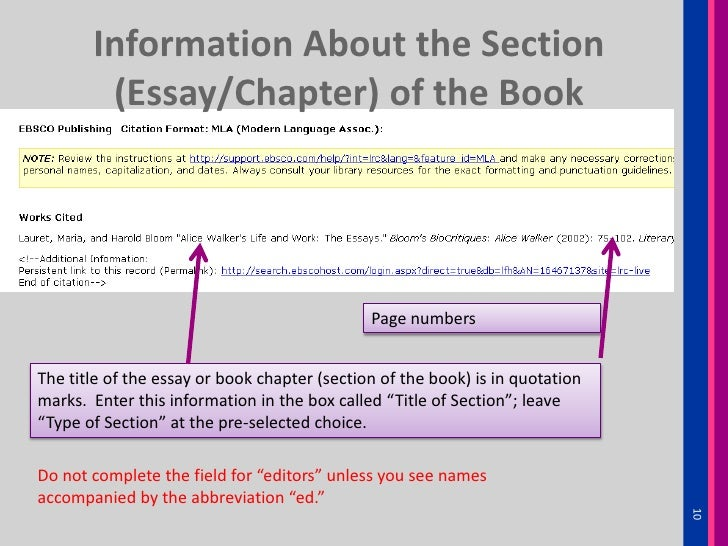 cite essay in a book Mla (modern language association) style is most commonly used to write papers and cite sources within the liberal arts and humanities this resource, updated to.