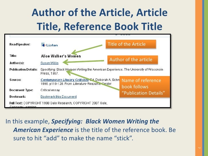 article reference in essay Automatic works cited and bibliography formatting for mla, apa and chicago/turabian citation styles now supports 7th edition of mla.