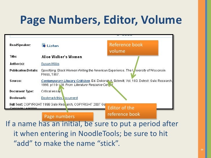 How to cite a reference source from the gale literature resource cent 8 ccuart Gallery