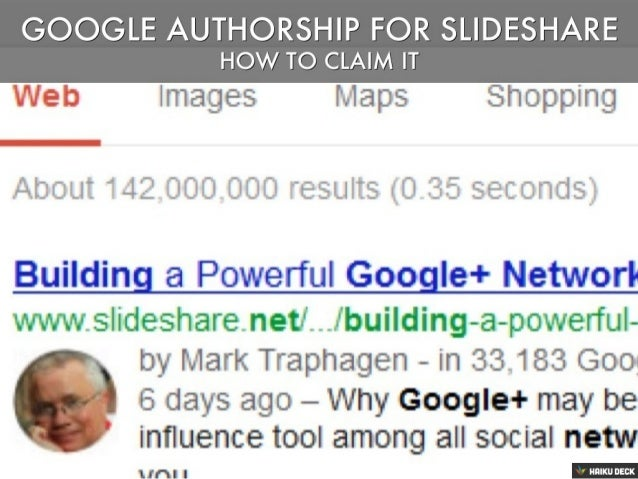 How To Claim Google Authorship For Slideshare