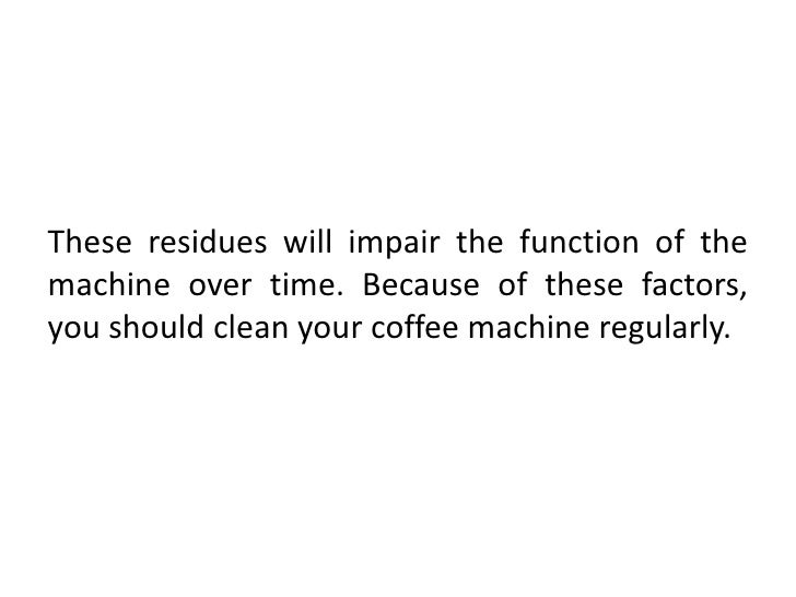 how to clean a coffeemaker
