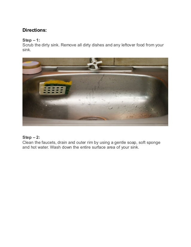 How to clean a drain & kitchen sink using baking soda and Vinegar