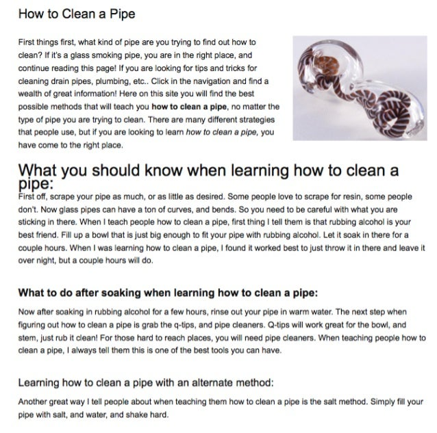 Howtocleanapipe