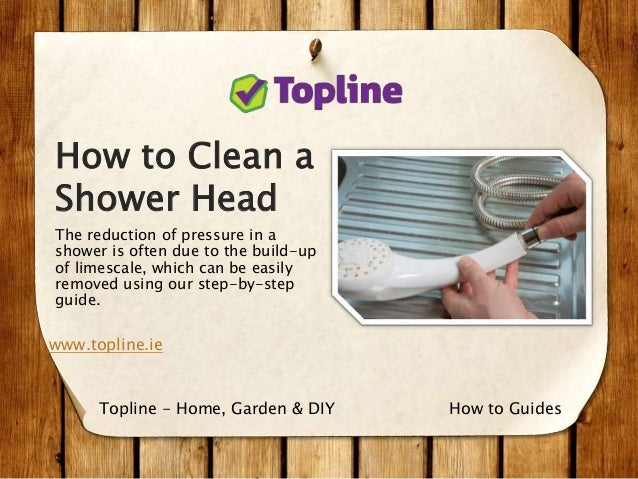 how to clean a shower head the reduction of pressure in a shower is often due