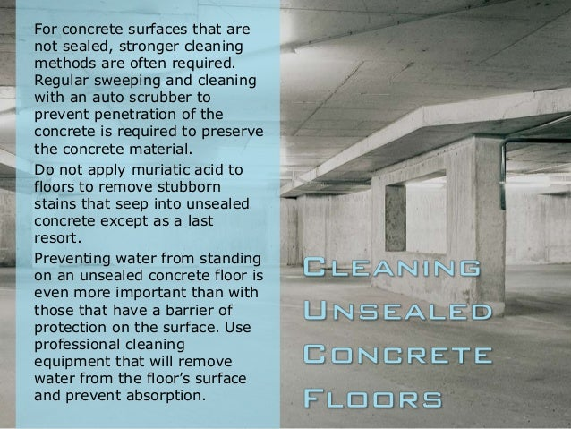 How to clean concrete floors for What to clean concrete with