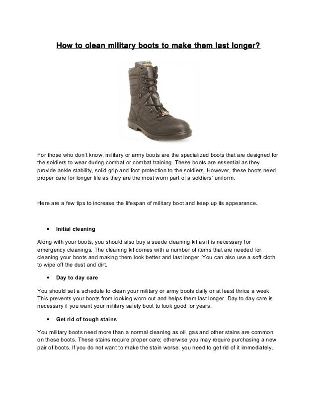 How to clean military boots to make them last longer d325c4dbb3070
