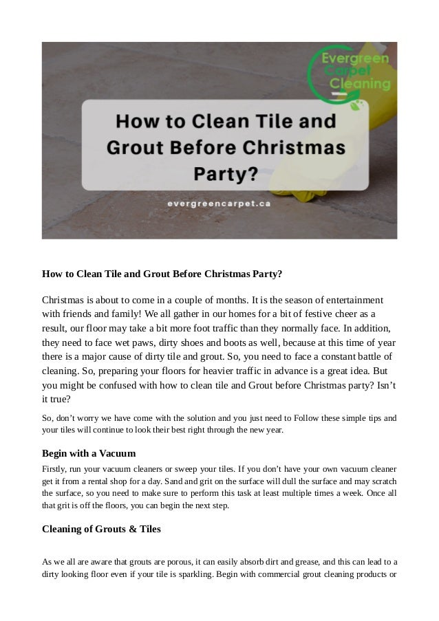 How To Clean Tile And Grout Before Christmas Party