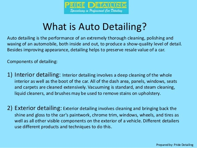 How to Clean Your Cars Interior by Pride Detailing