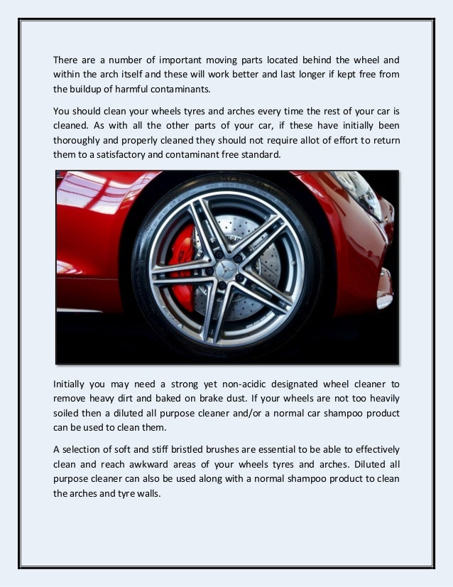 How To Clean Your Car Wheels And Tyres