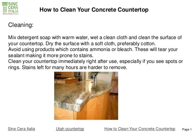Charming ... How To Clean Your Concrete Countertop; 2.
