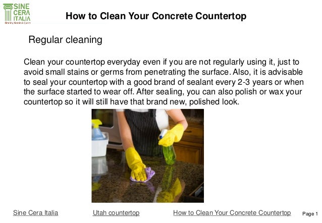 Wonderful ... How To Clean Your Concrete Countertop; 4.