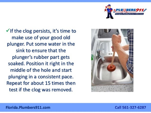 How To Clear A Clogged Kitchen Sink