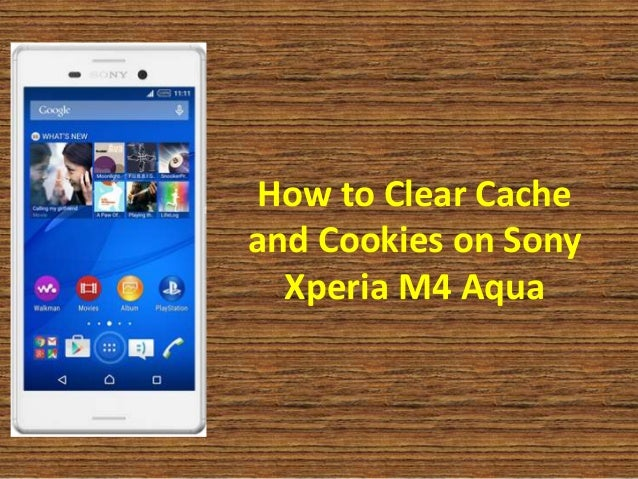 how to delete cache on sony xperia