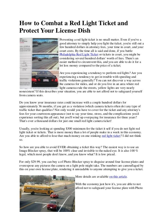 Awesome How To Combat A Red Light Ticket AndProtect Your License DishPreventing A Red  Light Ticket Is ... Idea