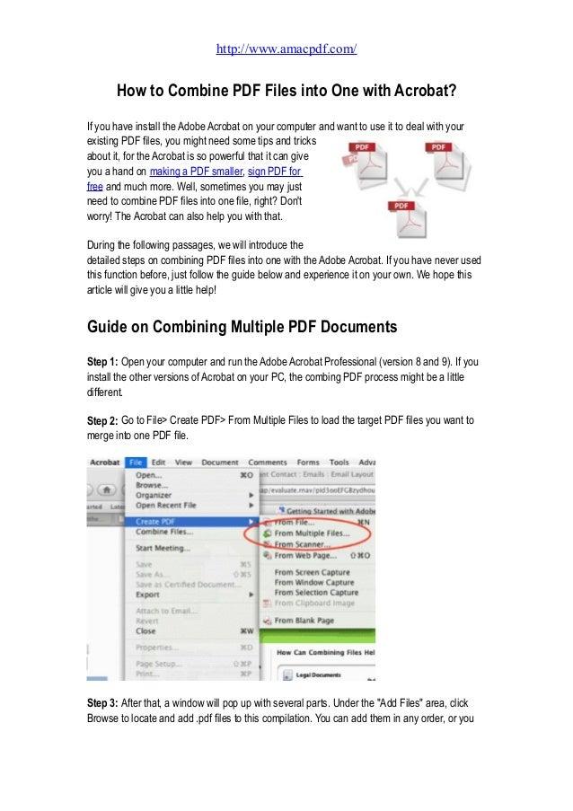 Combine Pdf Files Into One