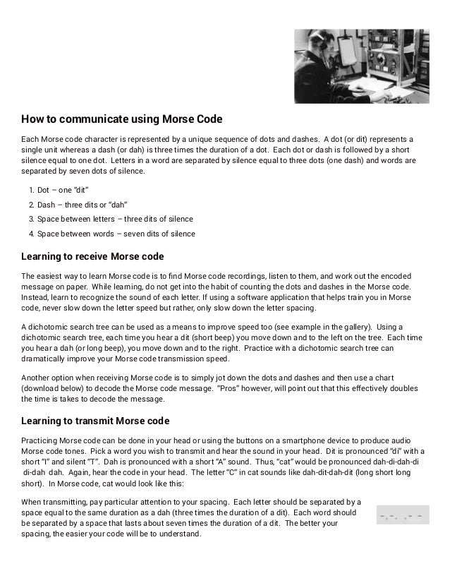 How To Communicate With Morse Code