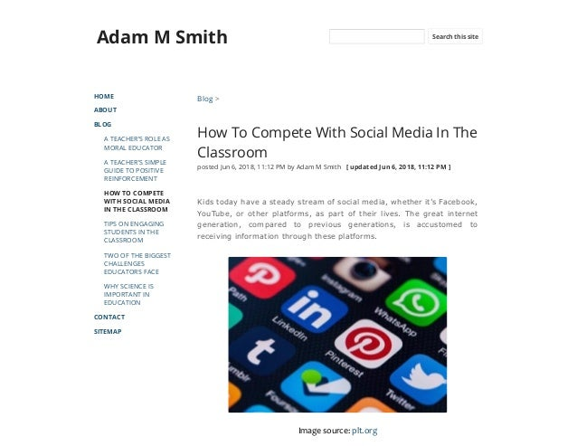 How to compete with social media in the classroom