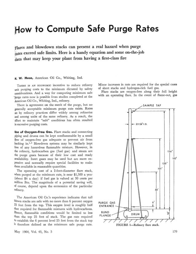 How To Compute Safe Purge Rates